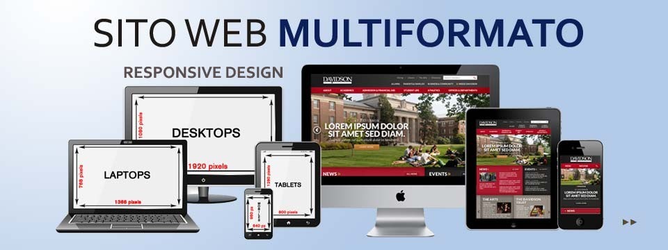 """Sito Web """"Multiformato"""" (Responsive)"""