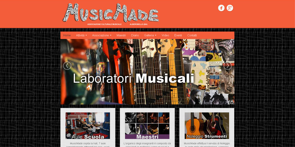 "Scuola e laboratorio ""Music Made"""