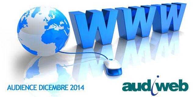10-02-2015AUDIWEB PUBBLICA I DATI DELLA TOTAL DIGITAL AUDIENCE DI DICEMBRE 2014