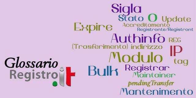 Glossario dei termini